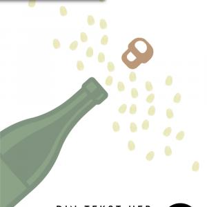 Pop champagnen - Fingeraftryk plakat