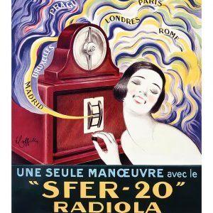 SFER-20 Radiola - Leonetto Cappiello kunstplakat