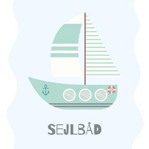 Sejlbad - Børneplakat
