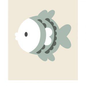 Stjernetegn fisken - Børneplakat