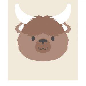 Stjernetegn tyren - Børneplakat