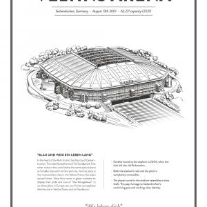 Veltins Arena - Schalke 04 arena- stadionplakat