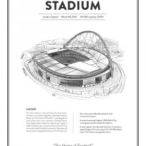 Wembley - England arena - stadionplakat
