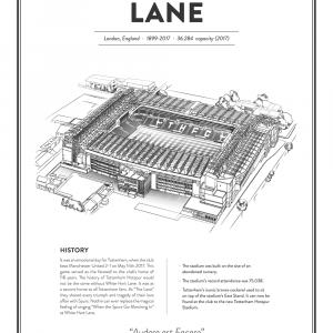 White Hart Lane - Tottenham arena - stadionplakat