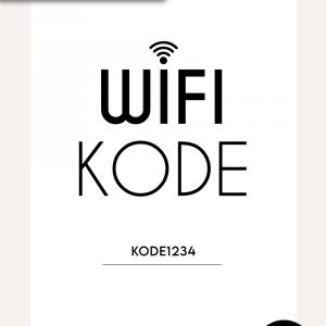 WiFi kode - Praktisk plakat