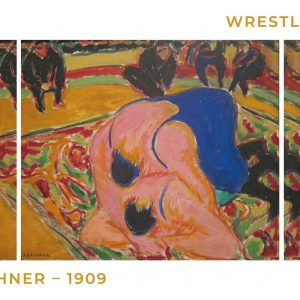 Wrestlers in a circus - Ernst L. Kirchner museumsplakat