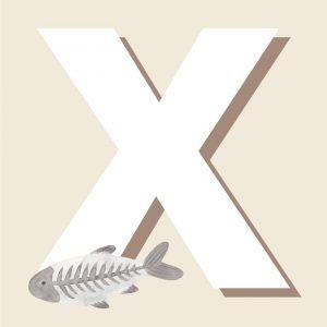 X - Børneplakat med bogstav