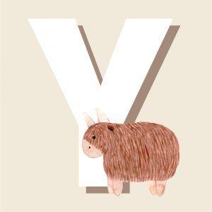 Y - Børneplakat med bogstav