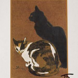 Zwei katzen - Théophile Steinlen museumsplakat