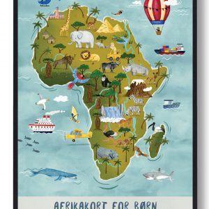 Afrikakort - håndtegnet plakat
