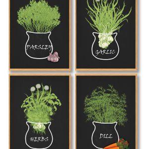 Krydderurter plakatsæt