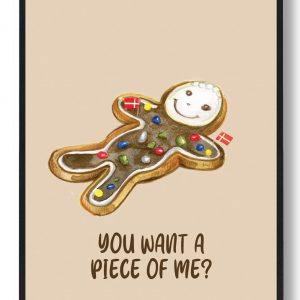 You want a piece of me?... - Kage plakat